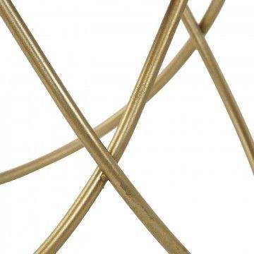 GOLDEN METAL AMIA TABLE 60CM