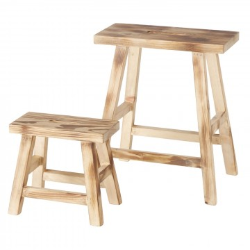 SUGEY WOOD STOOL 2 MED.