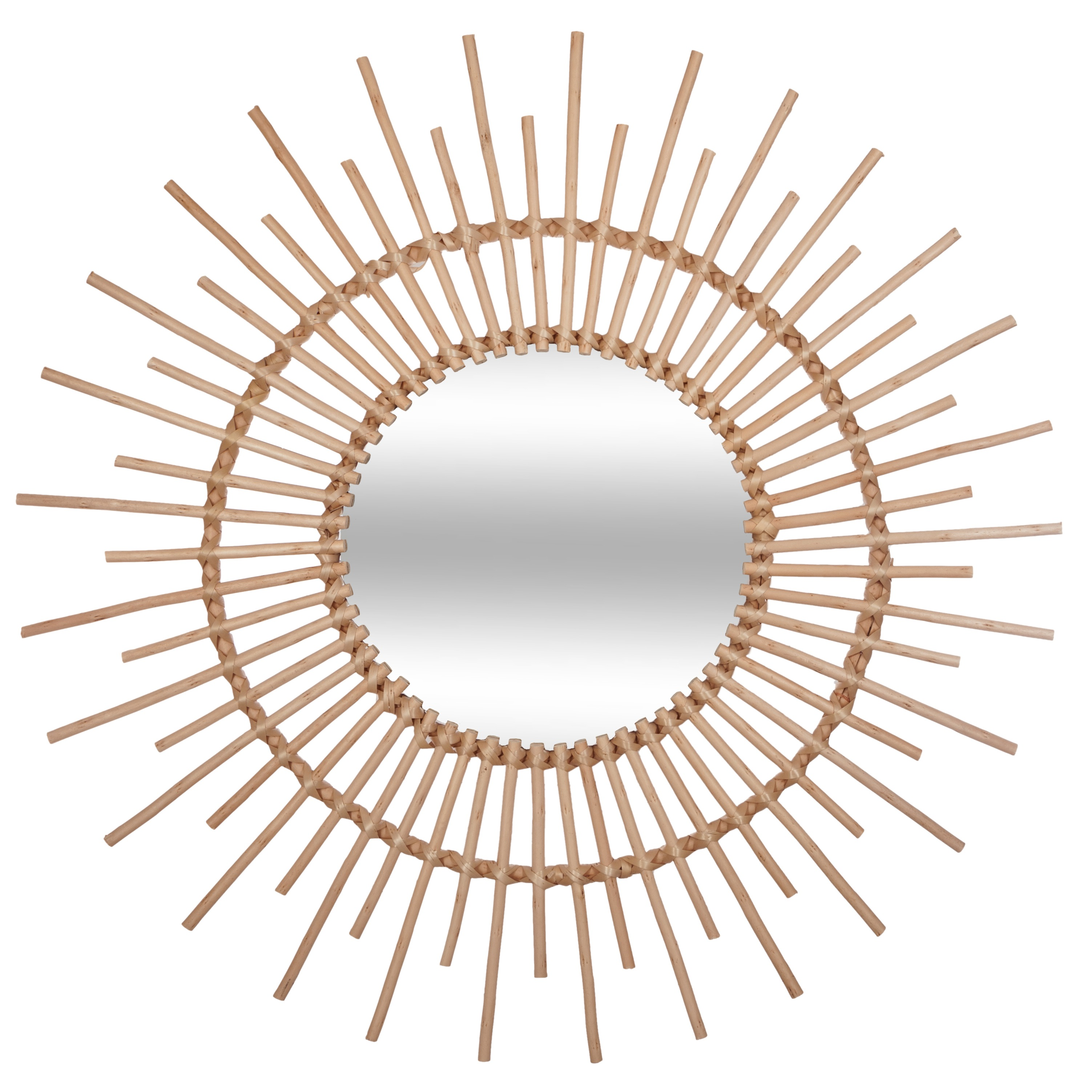 RATAN SUN MIRROR 76CM